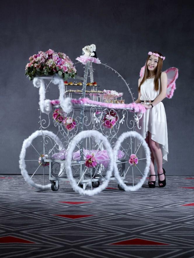 Orange Clove Riddle of Love dessert push-cart