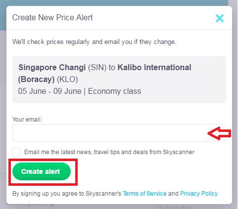 Skyscanner Price Alert 2