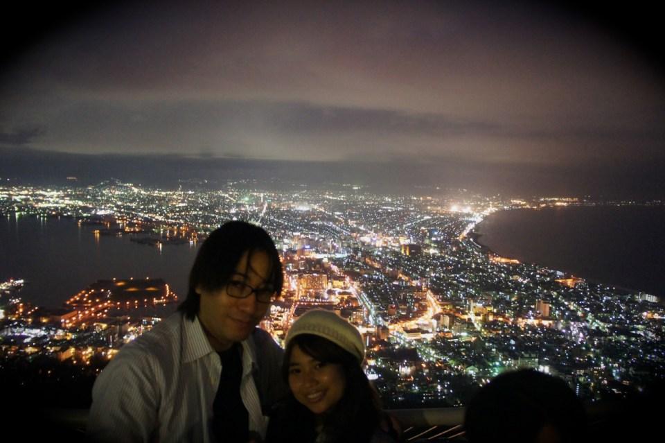 Hokkaido Honeymoon - Mount Hakodate - Jakarta Love Story