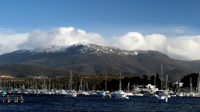 Australia Honeymoon Hobart Mount Wellington