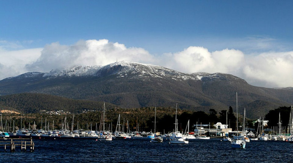 Australia Honeymoon Hobart Mount Wellington