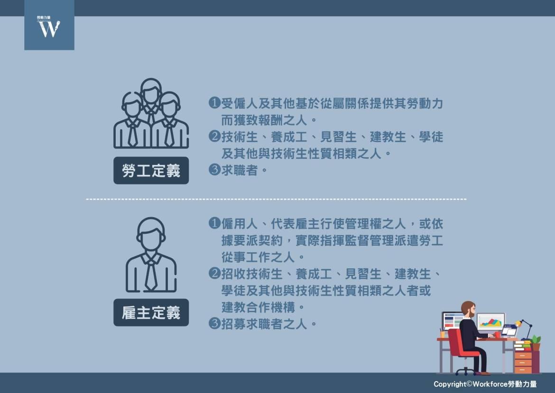 勞動事件法有關勞工與雇主定義