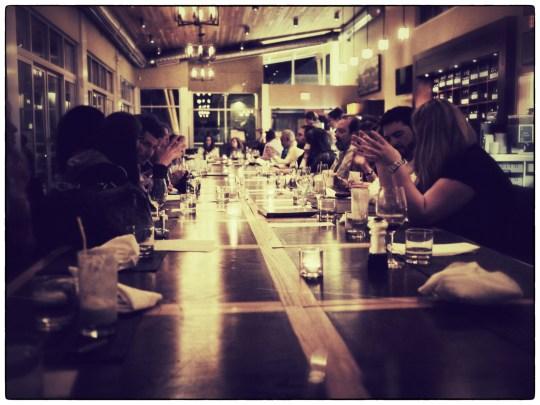 Long table dinner at Miradoro