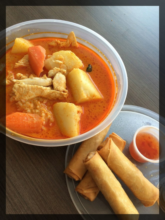 Thai Red Curry with Chicken on Rice