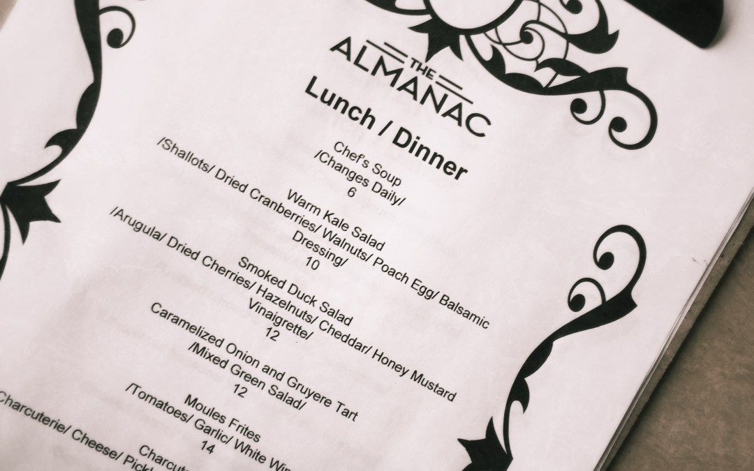 The Almanac on Whyte – Restaurant Review