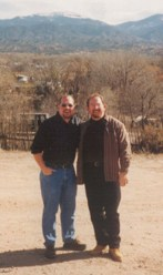 In New Mexico with one of my best friends, Dec 1998