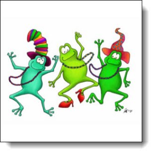 """Check out all the awesome swag with this design from """"The Dancing Frog Designs"""""""