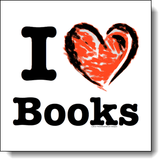 If you love books and you want the world to know it then this design is made for you in mind. The text in this design is big and bold making your love of books clear and easy to see. The large heart is created out bold strong strokes with what looks like crayons or finger paint to create a fun design with elements of grunge and a touch of playful youth. This is a wonderful design for book lovers, teachers, librarians, and anyone who has ever curled up with a good book