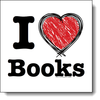 If you love books and you want the world to know it then this design is made for you in mind. The text in this design is big and bold making your love of books clear and easy to see. The large heart is created out bold strong strokes with what looks like crayons or finger paint to create a fun design with elements of grunge and a touch of playful youth. This is a wonderful design for book lovers, teachers, librarians, and anyone who has ever curled up with a good book.