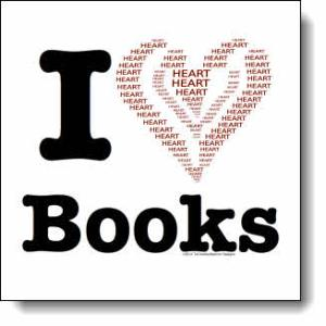 I love Books / I ♥ Books! — Word Heart