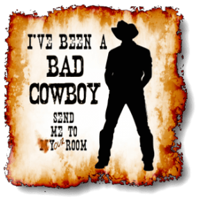 I've been a BAD COWBOY – Send me to your room