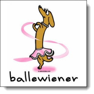 Create a customized gift with this wonderful Dancing Dachshund Design
