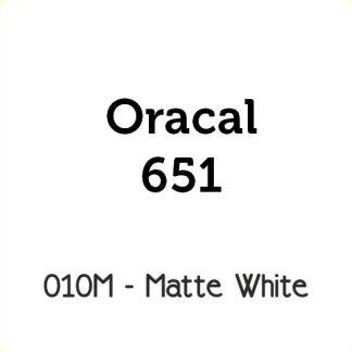 Oracal 651 White Matte Vinyl