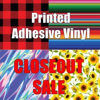 Printed Adhesive Vinyl - CLOSEOUT