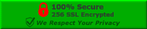 100 percent private and secure