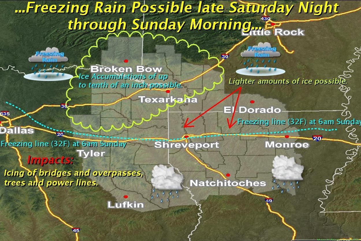 Winter Weather Forecast For This Weekend Texarkana Today