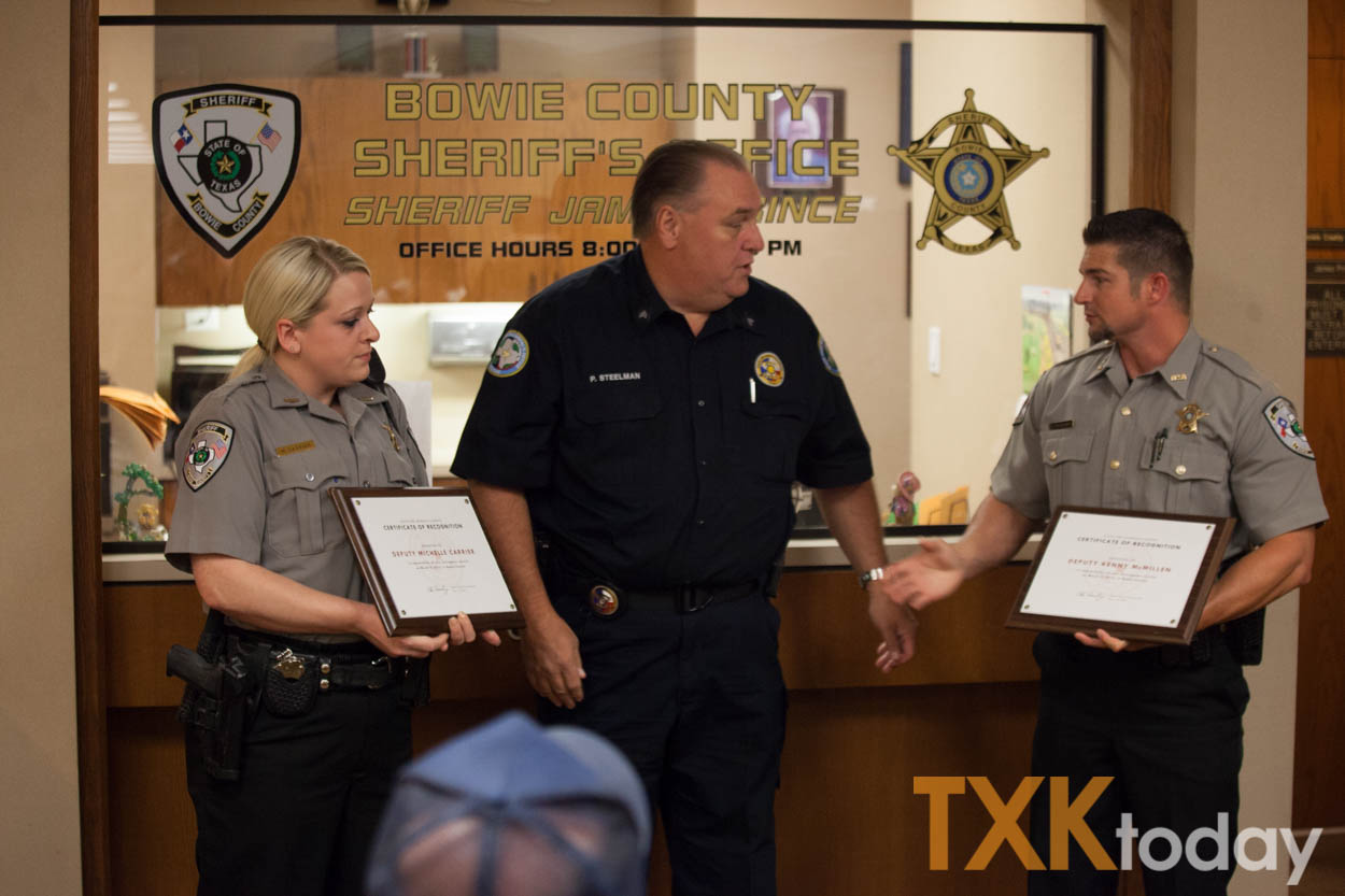 Bowie County Deputies recognized for saving woman from ...