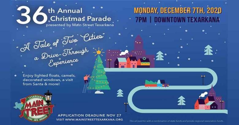 Texarkana, Texas   Main Street dates the 3rd Christmas Parade