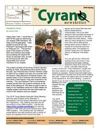 Cyrano Newsletter thumbnail for Spring 2019