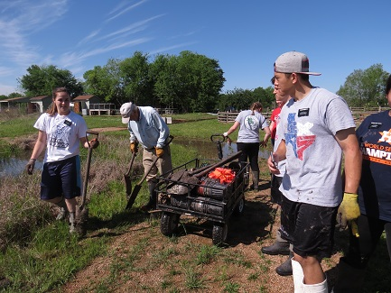 LDS helping with prairie planting-LTrenta