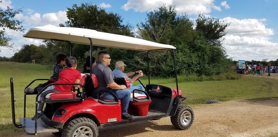 SNF 2018: Bill Brookshire and golf cart
