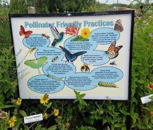 pollinator garden sign at Seabourne Prairie and Habitat Garden