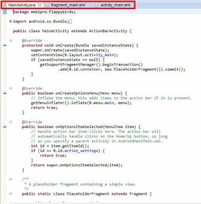 ADT tạo ra thêm một file layout mới kèm theo hàng loạt mã hỗ trợ dài dòng