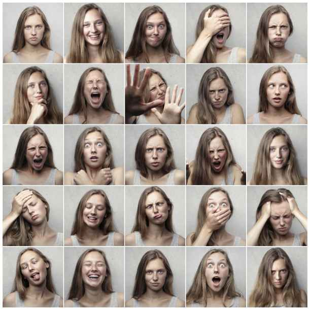 collage photo of woman