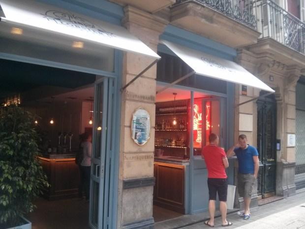 Fachada del 18 Lobster Bar Bilbao.