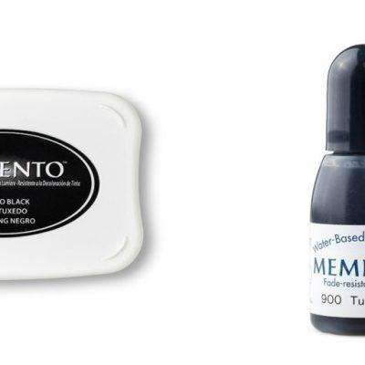 Basic Black Archival vs Memento Tuxedo Black Ink