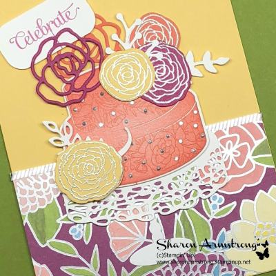 Fancy Cake Soiree Celebrate Card