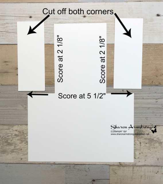 Fun fold card tutorial by Sharon Armstrong TxStampin