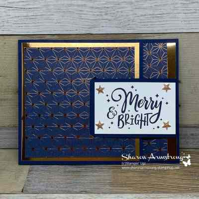 A Christmas Buckle Fold Card You'll Be Delighted to Make