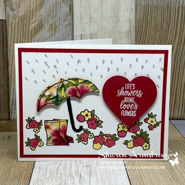Charming-Greeting-Cards-Handmade-with-Floral-Umbrella-and-Rain-Boots