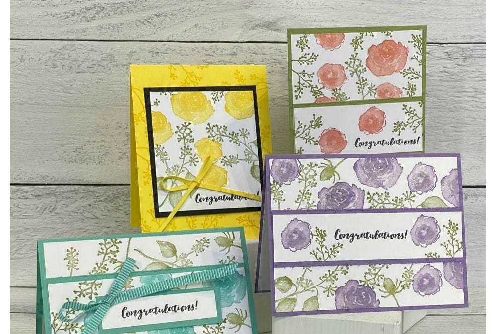 How to Make Your Own Background Paper for Card Making | Easy Peasy 1-2-3