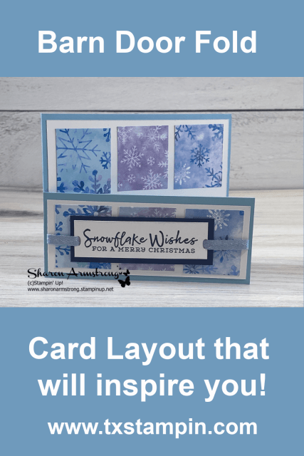 Pin this barn door fold card idea so you can find it easily later.