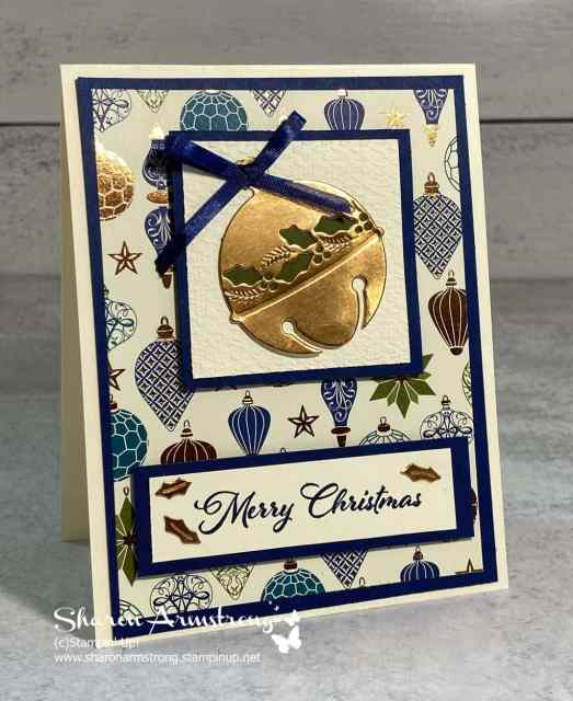 Cherish the Season with Stampin' Up! and this beautiful copper ornament