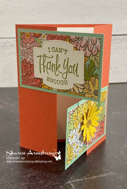 You can make your double gate fold card as a handmade thank you card