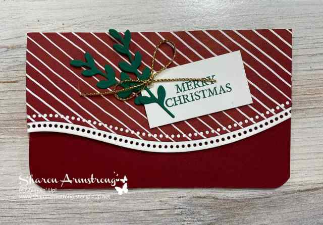 Make a gift card holder that doubles as a Christmas card too