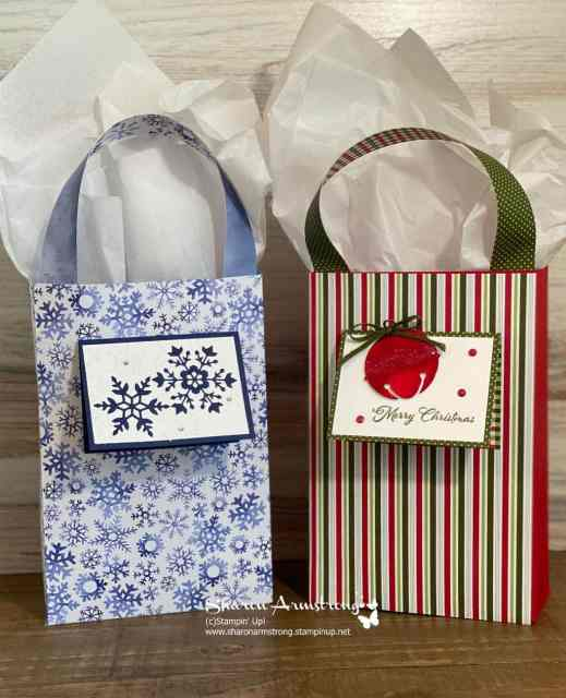 DIY gift bags you can make for Christmas or change the paper for any other occasion