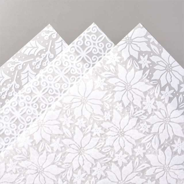 Plush Poinsettia paper you can use for those special handmade cards this year.