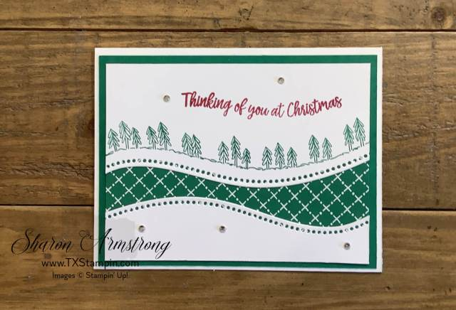 The Curvy Christmas can be used to make handmade cards too!