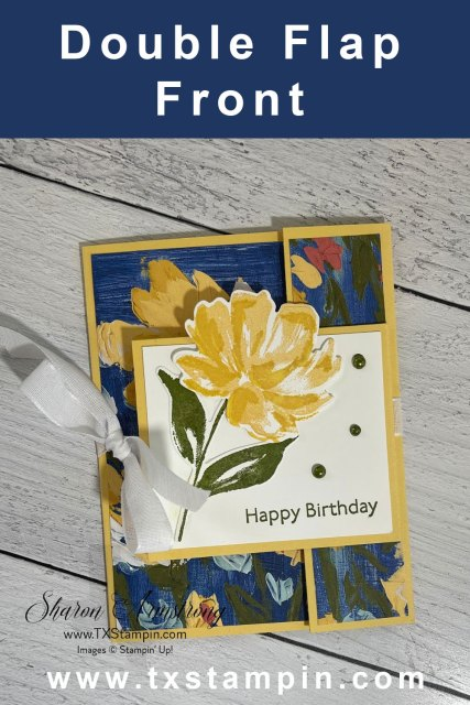 Save this double flap fun fold card to your favorite pinterest board.