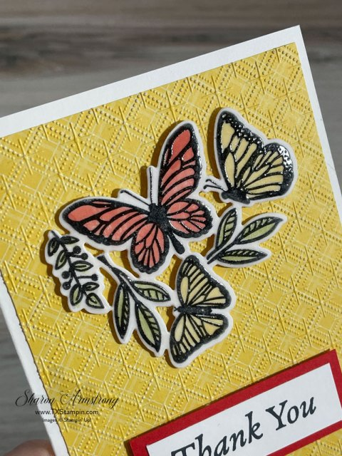 On these embossed vellum paper butterflies you can really see the shine.