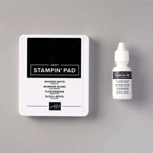 This is the Stampin' Up! Whisper White ink and refill.