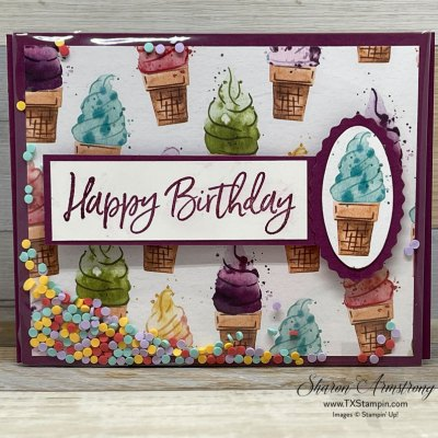 How to Make an Easy Shaker Card as a Special Birthday Treat