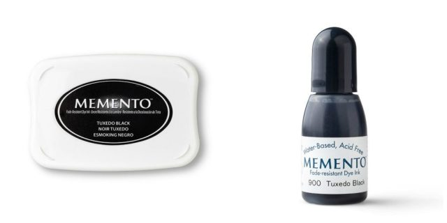 Memento ink is used when you want to color with Stampin' Blends. It is water based.