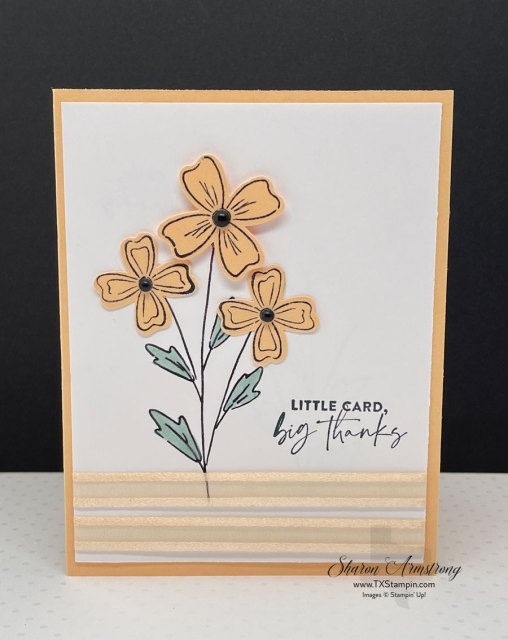 On this Friendship card I used flowers punched out and added for dimension.