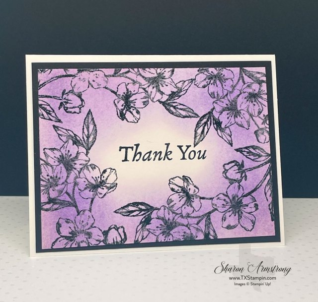 Black powder looks great on this emboss resist thank you card.