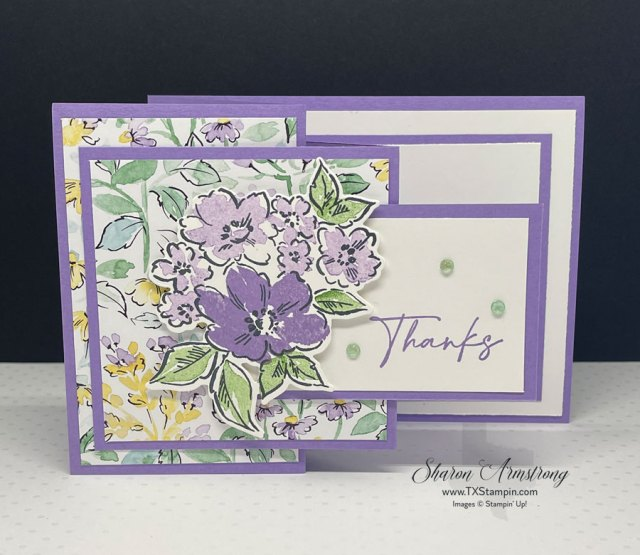 A purple lovers dream in this z-fold card.